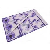 Hanging pocket purple 59 x 36 cm 9 pockets 715