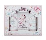 Bohemia Gifts I will be a mom shower gel 100 ml + shampoo 100 ml + bath salt 110 g, cosmetic set