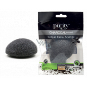 Purity Plus Charcoal make-up sponge Konjac with activated carbon 1 piece