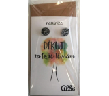 Albi Gift Jewelry Earrings Thank you 1 pair