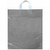 Press Plastic bag 36 x 45 cm with handle Silver