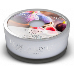 Heart & Home Tuscan Fig Soy scented candle in a bowl burns for up to 12 hours 38 g