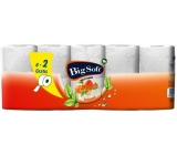 Big Peach Peach Soft toilet paper 2 layers of 8 x 200 snatches + 2 role
