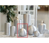 Lima Alfa candle silver ball 80 mm 1 piece