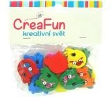 CreaFun Dřevěné dekorace Angry Birds mix barev 25mm 15 kusů