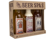 Bohemia cassette Beer Spa with beer yeast extracts and hops shower gel 200 ml + hair shampoo 200 ml + bath foam 200 ml, cosmetic set