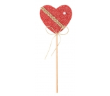 Decorations of red 6 cm heart + skewers 3737 4670