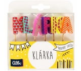 Albi Cake candles name - Klárka, 2.5 cm