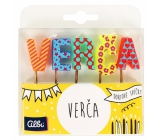 Albi Cake candles name - Verča, 2,5 cm