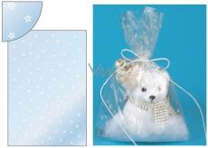 Angel Bag transparent with stars 16 x 25 cm