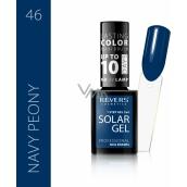 Revers Solar Gel gel nail polish 46 Navy Peony 12 ml