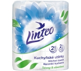 Linteo Strong & Absorbent paper kitchen towels with print 2 layers, 10 m, 2 pieces