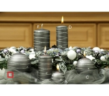 Lima Galaxy candle gray ball 100 mm 1 piece