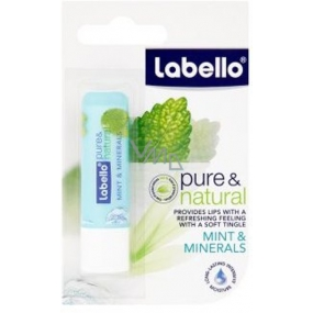 Labello Pure & Natural Mint & Minerals lip balm with cooling refreshment 5.5 g
