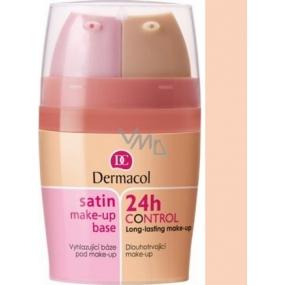 Dermacol Satin Make-up Base & 24h Control 2in1 make-up base and make-up 02 2x15 ml
