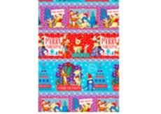 Ditipo Disney Vánoční balicí papír dětský Medvídek Pú barevný 100 x 70 cm 2 kusy