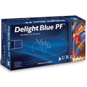 Aurelia Delight Blue PF Disposable vinyl gloves without powder size XL box 100 pieces