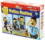 Jumping Clay City - Police station self-drying modeling compound for children 5+