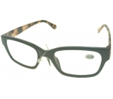 Berkeley Reading glasses +2.0 plastic black tiger side 1 piece ER4198