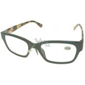 Berkeley Reading glasses +2.0 plastic black tiger side 1 piece ER4198