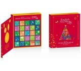 Česky Tea Shop Bio Advent Calendar in the shape of a book red, 25 pyramids of loose teas, 13 flavors, gift set