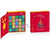 Česky Tea Shop Bio Advent Calendar in the shape of a book red, 25 pyramids of loose teas, 13 flavors, gift set