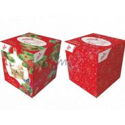 Linteo Paper handkerchiefs 3 ply 60 pieces Christmas motifs in a box