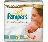 Pampers Premium Care 1 Newborn 2-5 kg diapers 78 pieces