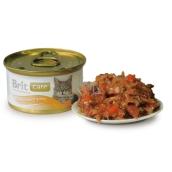 Brit Care Tuňák, mrkev + hrášek pro všechny kočky 80g