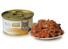 Brit Care Tuna, carrot + peas for all cats 80 g