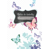 Ditipo Relax in handbag Butterfly notebook 15 x 10.5 cm