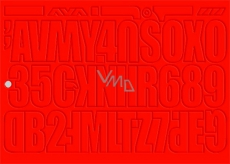 Arch Do your own advertising red self-adhesive letters and numbers 35 x 25 cm