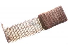 Ditipo Jutová stuha metalická Měděná 2 m x 5 cm 2824001
