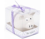 Albi Money box piggy small All the best purple 7 cm × 6.5 cm × 7.3 cm