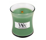 WoodWick White Willow Moss - Willow and Moss Scented Candle with Wooden Wick and Glass Small Lid 85 g
