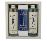 Bohemia Gifts & Cosmetics Sportsman Shower Gel 250 ml + Hair Shampoo 250 ml + Toilet Soap 145 g, cosmetic set