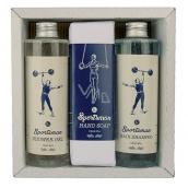 Bohemia Gifts & Cosmetics Sportsman shower gel 250 ml + hair shampoo 250 ml + toilet soap 145 g, men's cosmetic set