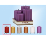 Lima Pyramid Star candle red cylinder diameter 60 mm 4 pieces