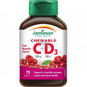 Jamieson Vitamins C and D3 500 mg / 500 IU cherry sucking tablets 75 tablets