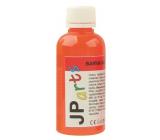 JP arts Paint for textiles for light materials, glitter 2. Orange 50 g
