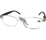 Berkeley Reading glasses +3.5 plastic transparent, black sides 1 piece MC2166