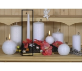Lima Alfa Frosty effect candle white cone 22 x 250 mm 1 piece