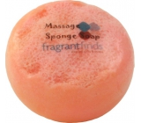 Fragrant Daisy Chain Glycerine massage soap with a sponge filled with the scent of Marc Jacobs Daisy perfume in white-orange color 200 g
