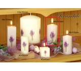 Lima Flower Lavender scented candle light purple with decal lavender cylinder 60 x 120 mm 1 piece