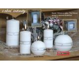 Lima Aura Intimity vonná svíčka bílá koule v dárkové krabičce 100 mm 1 kus