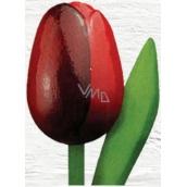 Wooden tulip 20cm dark-red