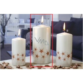 Lima Starlight candle white / copper 70 x 150 mm 1 piece