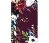 Albi Diary 2020 pocket weekly Meadow flowers 15,5 x 9,5 x 1,2 cm