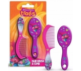 Trolls Hairbrush and comb for children 2 pieces