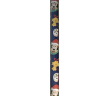Ditipo Gift wrapping paper 70 x 200 cm Christmas Disney Mickey Mouse dark blue